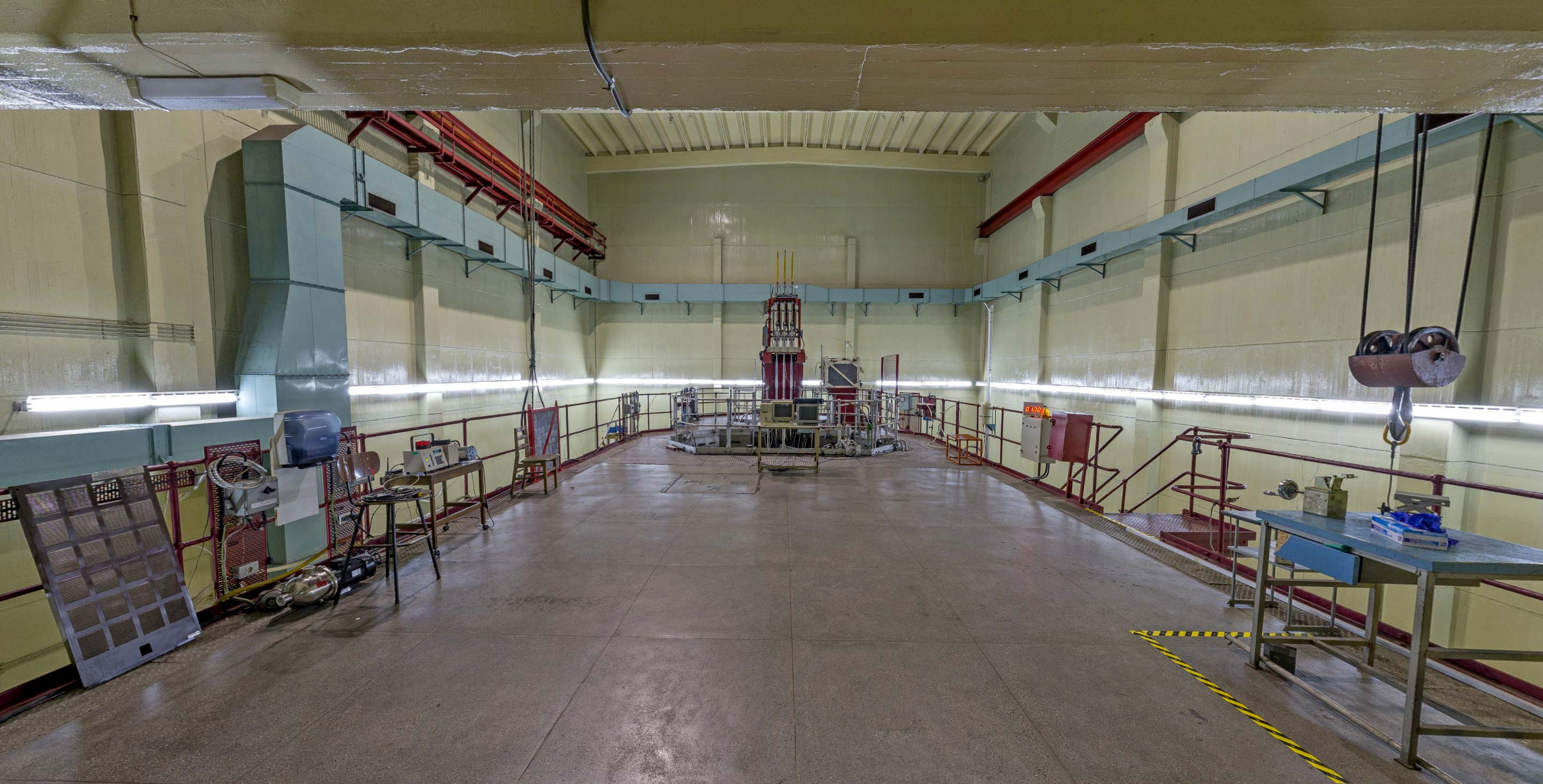 Inside the nuclear reactor